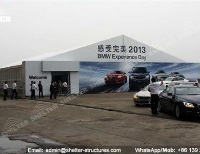 large exhibition structures - temporary structures for trade show fair - car display - auto release (108)