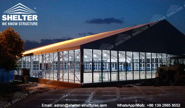 large exhibition structures - temporary structures for trade show fair - car display - auto release (112)2