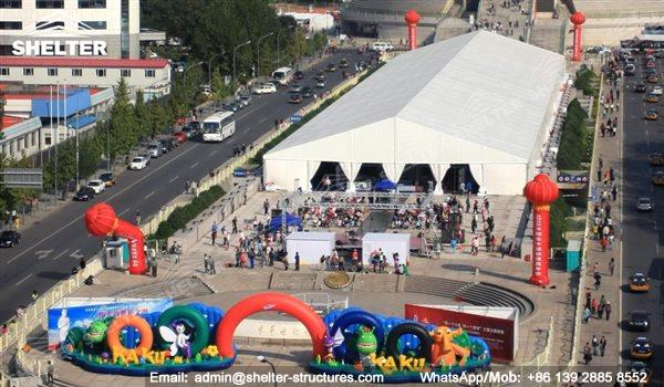 large exhibition structures - temporary structures for trade show fair - car display - auto release (126)