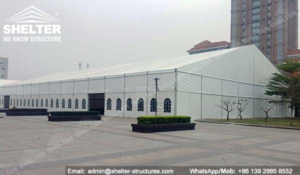large exhibition structures - temporary structures for trade show fair - car display - auto release (2)2