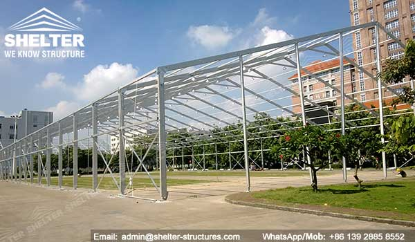 large exhibition structures - temporary structures for trade show fair - car display - auto release (2)22