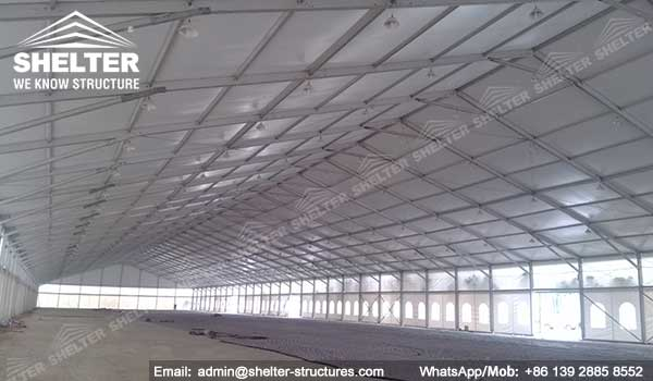 large exhibition structures - temporary structures for trade show fair - car display - auto release (3)2