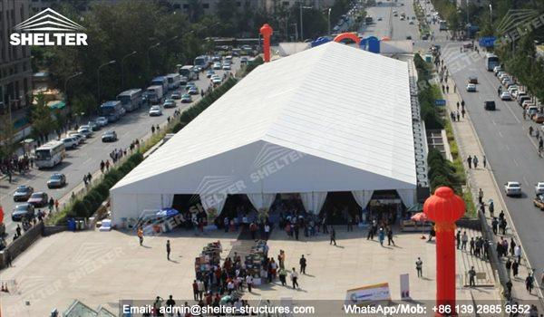 large exhibition structures - temporary structures for trade show fair - car display - auto release (39)