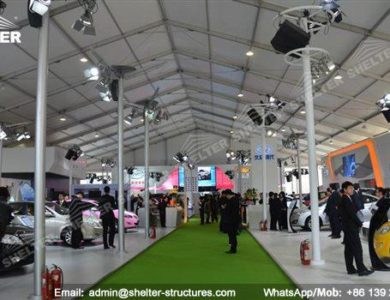large exhibition structures - temporary structures for trade show fair - car display - auto release (42)