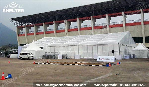 large exhibition structures - temporary structures for trade show fair - car display - auto release 54