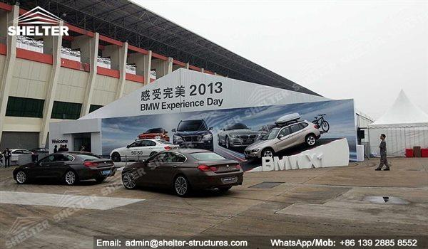large exhibition structures - temporary structures for trade show fair - car display - auto release (67)