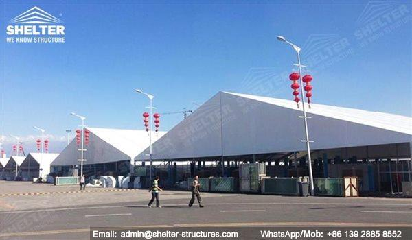 large exhibition structures - temporary structures for trade show fair - car display - auto release (88)