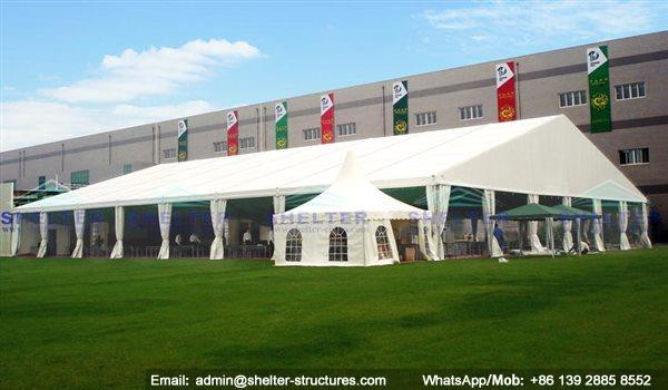 marquee for social events - large exhibition tents - tent canopy for exposition - musical festival pavilion - canvas for fari carnival (25)