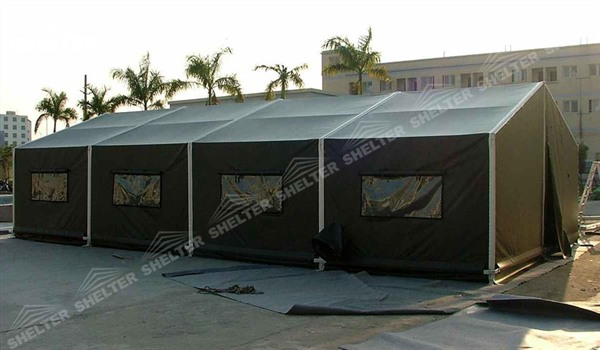 military clinic - temporary medical station - army base camp - tent camp - tent warehouse (3)