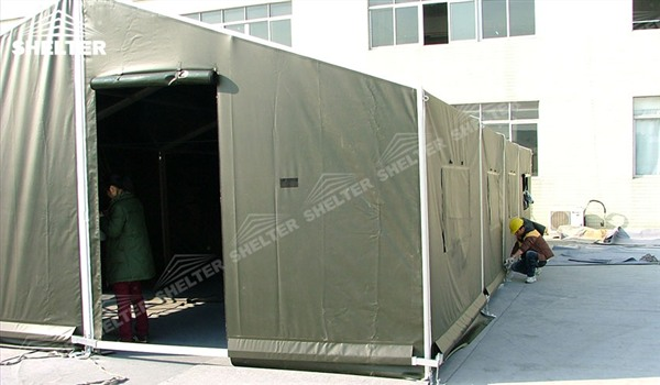 military clinic - temporary medical station - army base camp - tent camp - tent warehouse (7)