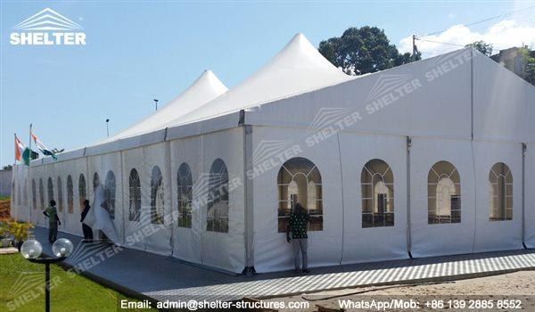 mixed party tents - multi shapes marquee - bellend canvas - large wedding marquees - 6 side bellend tent - 8 side bellend tents - 12 side bellend marquees - Shelter aluminum structures for sale (2)