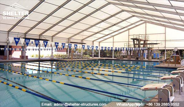 sports structures - indoor swimming pool - court shed - tennis tent - canopy for horse riding - horse loading tent - gym structures idea - sports staidum cover (73)