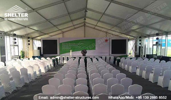 tents for conference - exhibition tent - new prodution conference - marquee for press meeting -Stora Enso Beihai Mill Inauguration