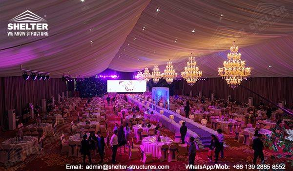 wedding marquee - pavilion for luxury wedding ceremony - canopy for outdoor party - wedding on seaside - in hotel - Shelter aluminum structures for sale (02170215)