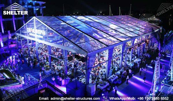 wedding marquee - pavilion for luxury wedding ceremony - canopy for outdoor party - wedding on seaside - in hotel - Shelter aluminum structures for sale (122)
