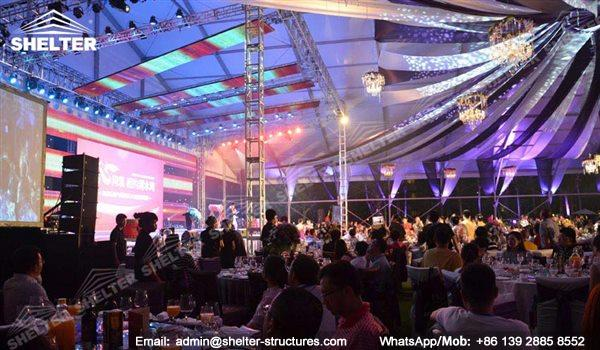 wedding marquee - pavilion for luxury wedding ceremony - canopy for outdoor party - wedding on seaside - in hotel - Shelter aluminum structures for sale (149)