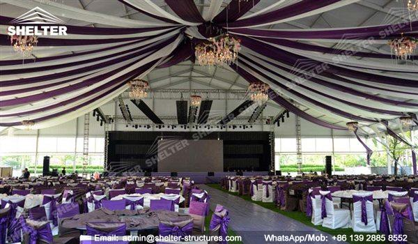 wedding marquee - pavilion for luxury wedding ceremony - canopy for outdoor party - wedding on seaside - in hotel - Shelter aluminum structures for sale (153)