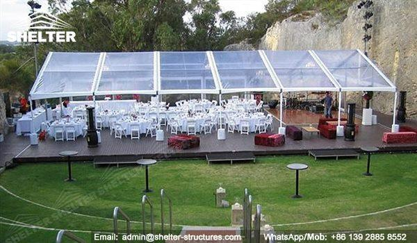wedding marquee - pavilion for luxury wedding ceremony - canopy for outdoor party - wedding on seaside - in hotel - Shelter aluminum structures for sale (158)
