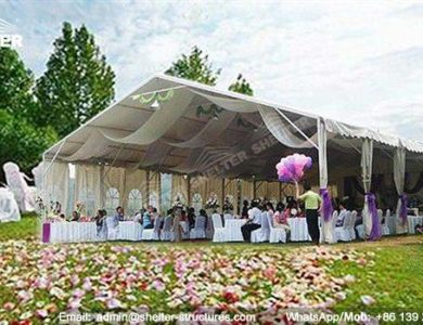 wedding marquee - pavilion for luxury wedding ceremony - canopy for outdoor party - wedding on seaside - in hotel - Shelter aluminum structures for sale (175)