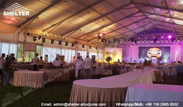 wedding marquee - pavilion for luxury wedding ceremony - canopy for outdoor party - wedding on seaside - in hotel - Shelter aluminum structures for sale (201)