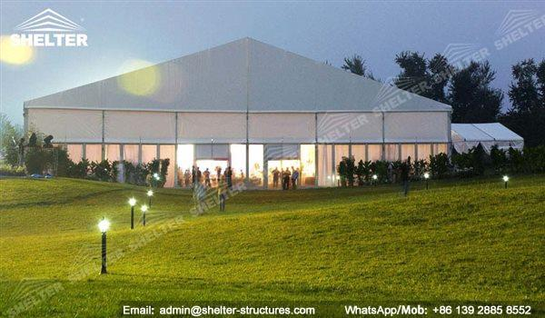 wedding marquee - pavilion for luxury wedding ceremony - canopy for outdoor party - wedding on seaside - in hotel - Shelter aluminum structures for sale (215)