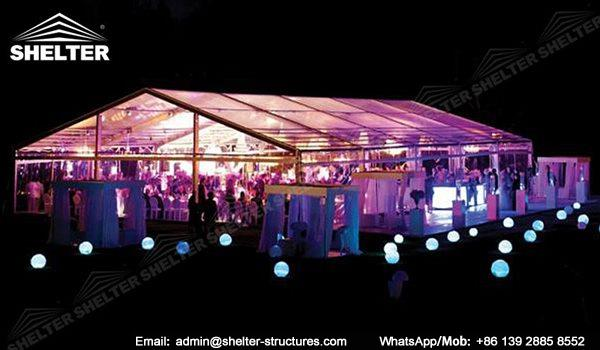wedding marquee - pavilion for luxury wedding ceremony - canopy for outdoor party - wedding on seaside - in hotel - Shelter aluminum structures for sale (238)