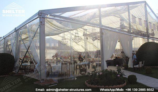 wedding marquee - pavilion for luxury wedding ceremony - canopy for outdoor party - wedding on seaside - in hotel - Shelter aluminum structures for sale (293)