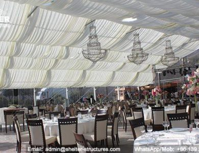 wedding marquee - pavilion for luxury wedding ceremony - canopy for outdoor party - wedding on seaside - in hotel - Shelter aluminum structures for sale (299)