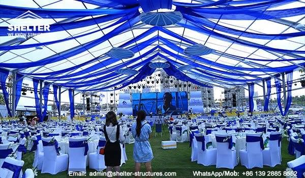 wedding marquee - pavilion for luxury wedding ceremony - canopy for outdoor party - wedding on seaside - in hotel - Shelter aluminum structures for sale (8115)_Jc